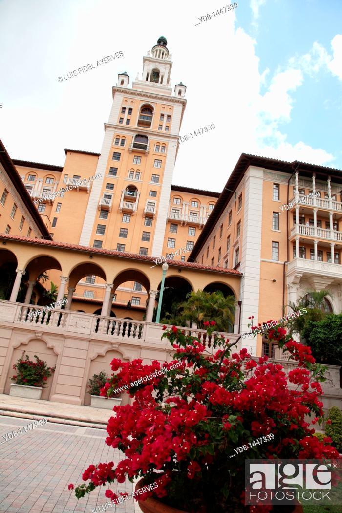 Stock Photo: Biltmore Hotel Coral Gables, Florida, USA.