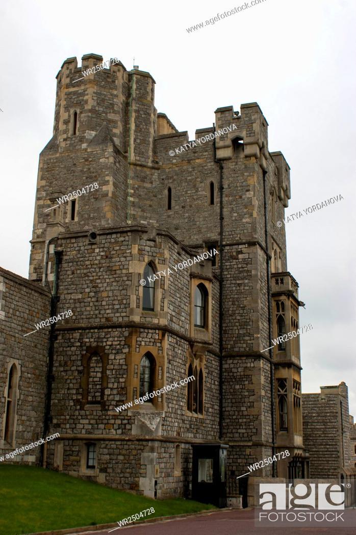 Stock Photo: Windsor Castle near London, UK.