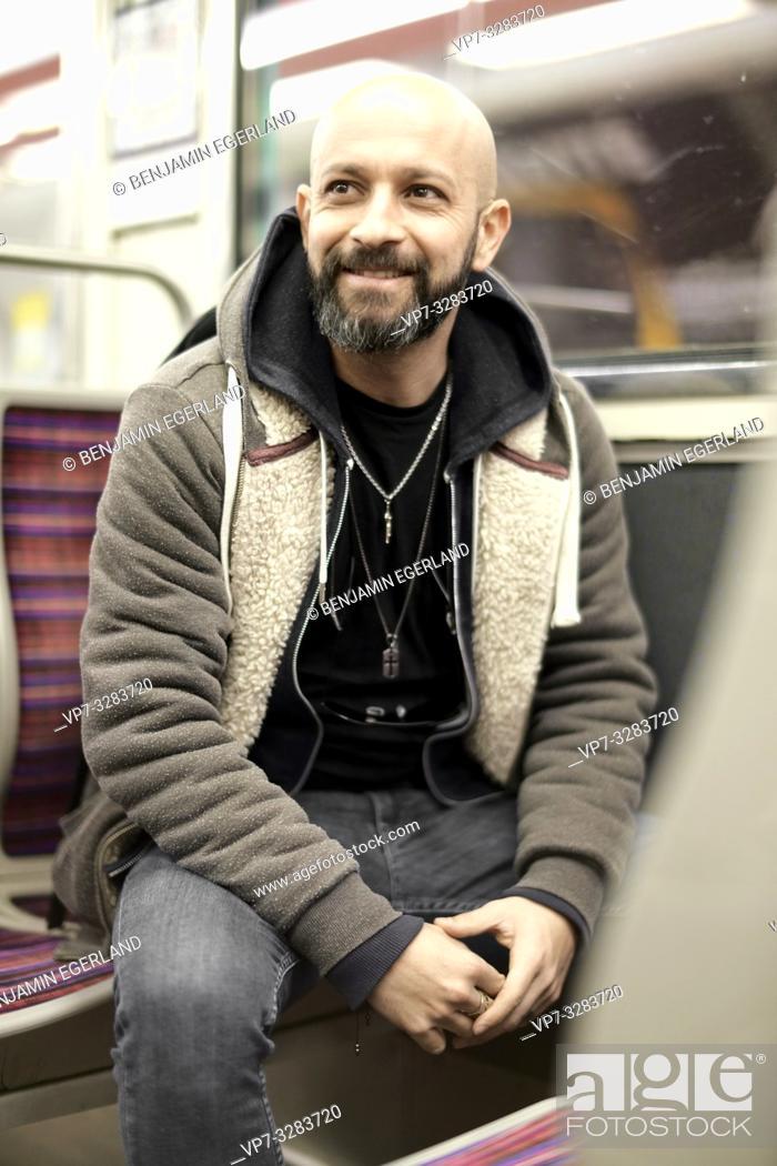 Stock Photo: man in subway. Paris, France.