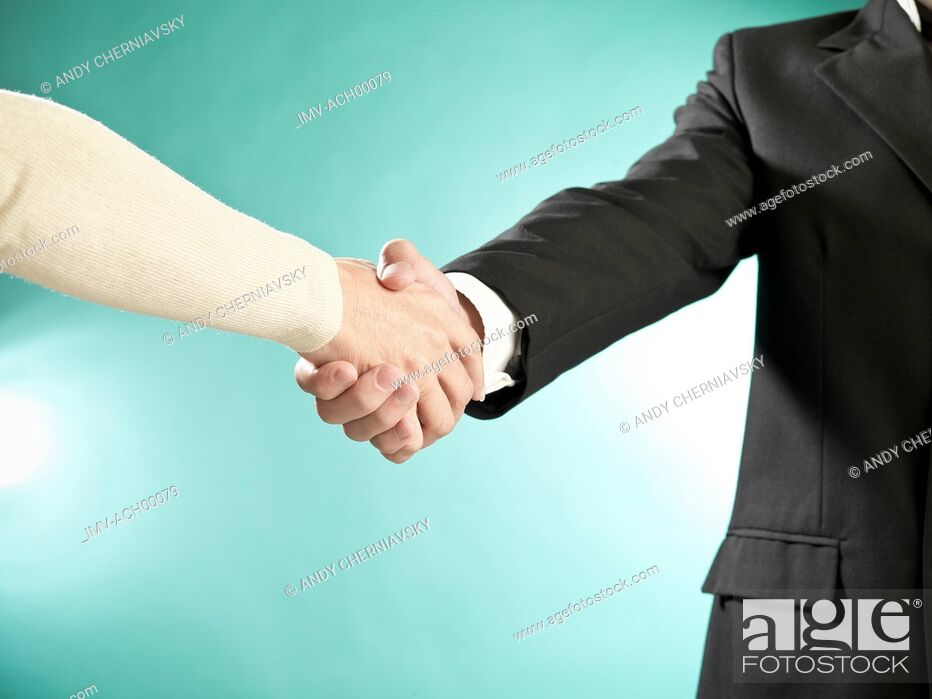 Stock Photo: Greeting Hands.