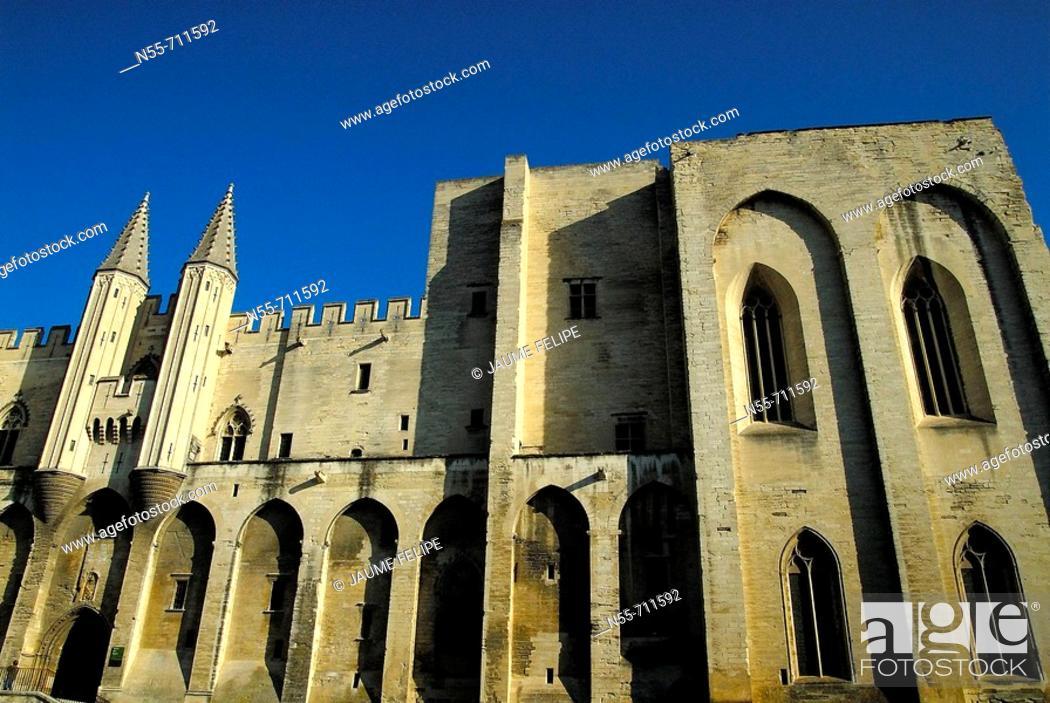 Stock Photo: Popes Palace (14th century), Avignon. Provence, France.