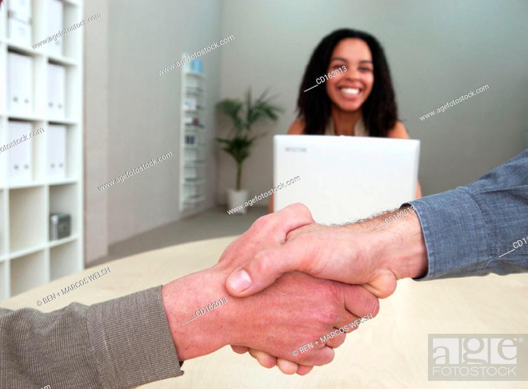 Stock Photo: Handshaking.