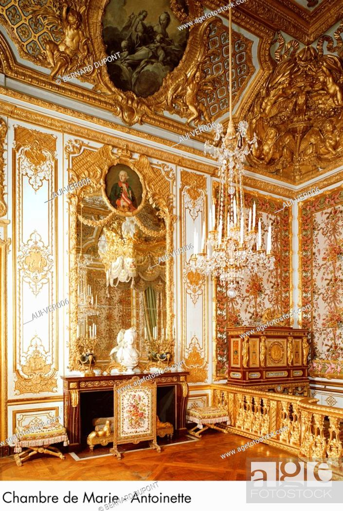 Stock Photo: Palace of Versailles - Chambre de Marie - Antoinette.