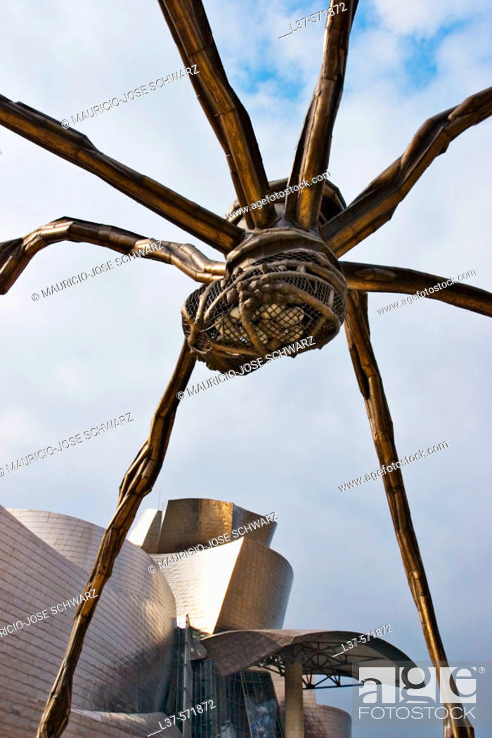 Stock Photo: Guggenheim Museum (building by Frank O. Gehry), Bilbao. Biscay, Euskadi, Spain.