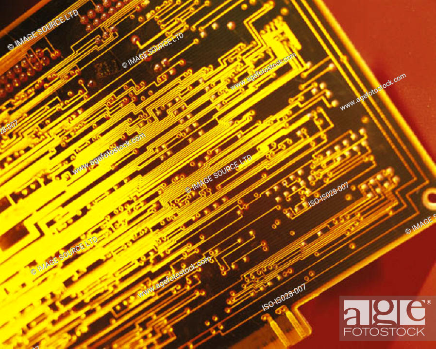 Stock Photo: Circuit board.
