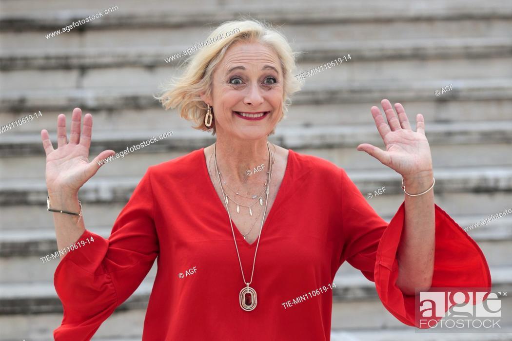 Stock Photo: Caroline Goodall during 'The Elevator' film photocall, Rome 11/06/2019.