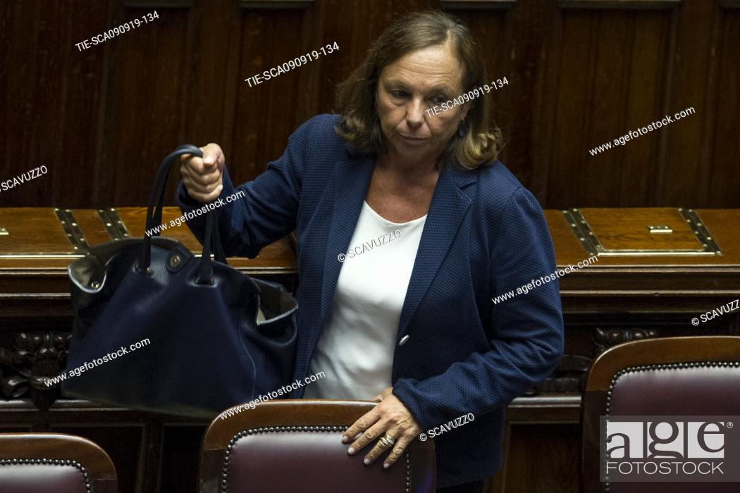 Stock Photo: Interior Minister Luciana Lamorgese during the vote of confidence of new government in the House of Representatives, Rome, Italy, 09 September 2019.