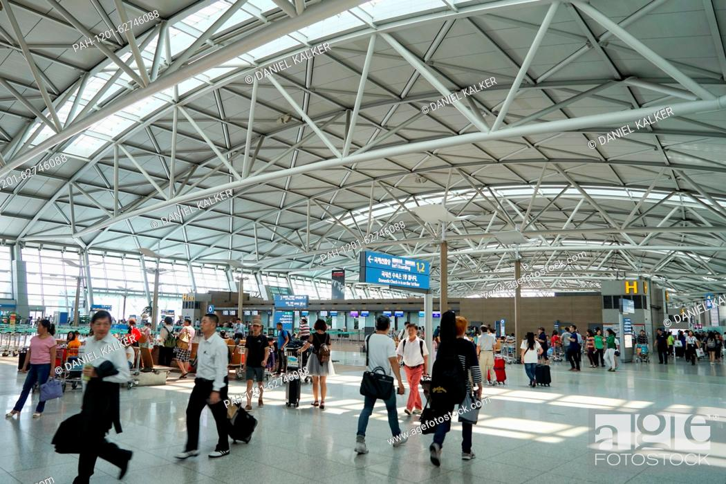 South Korea: Terminal 1 of Incheon International Airport (ICN) near ...