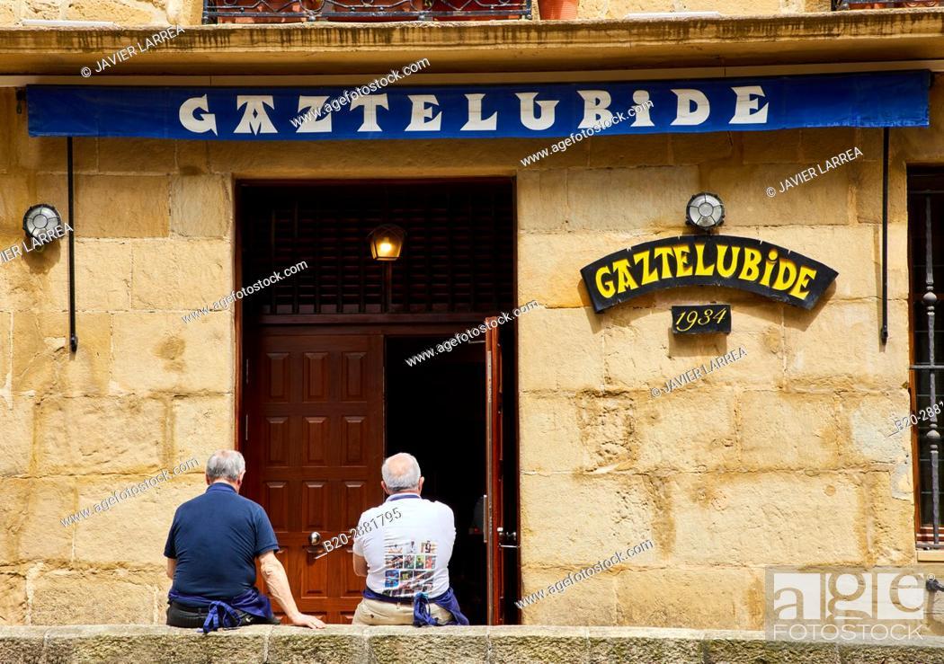 Stock Photo: Gastronomic society Gaztelubide, Parte Vieja, Old Town, Donostia, San Sebastian, Gipuzkoa, Basque Country, Spain.
