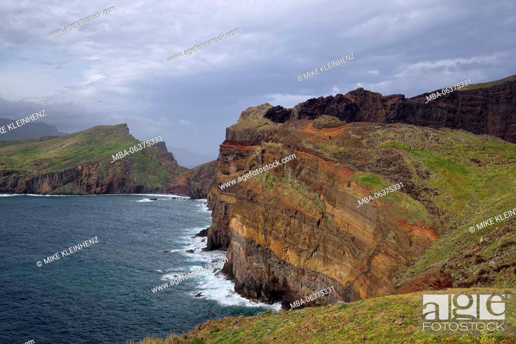 Stock Photo: Portugal, Madeira, rocks, volcanically, coast, sea.