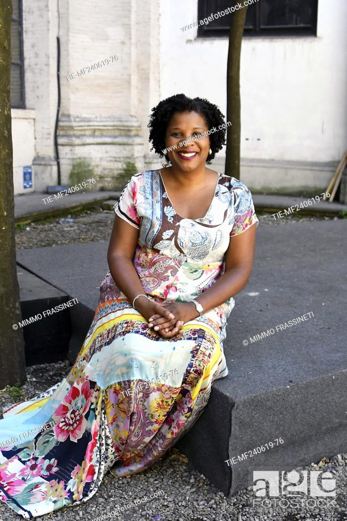 Imagen: The writer Tayari Jones attends at the 18th International Literature Festival, Rome, ITALY-24-06-2019.