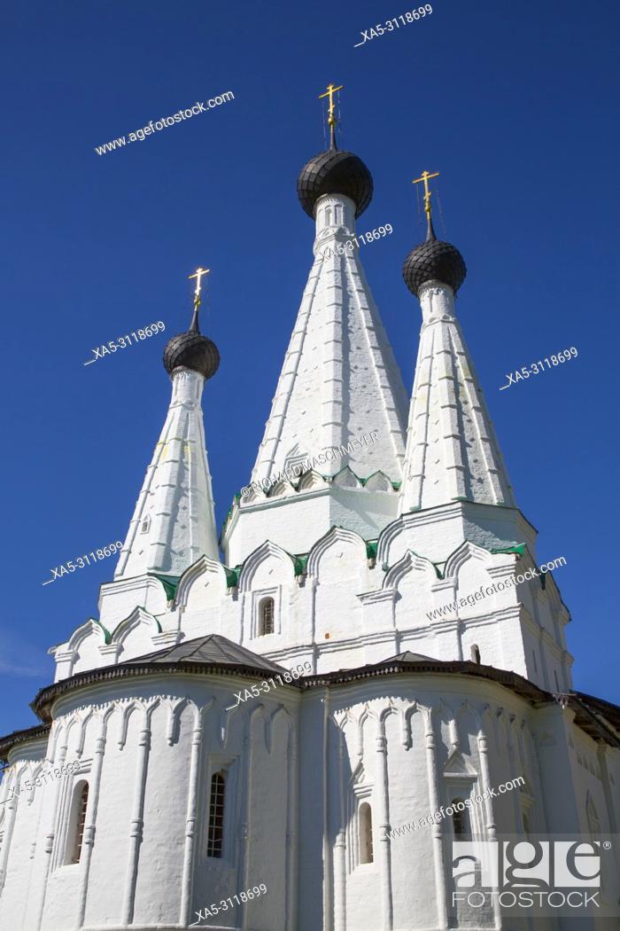 Stock Photo: Church of the Dormition of the Theotokos, Alexey Monastery, Uglich, Golden Ring, Yaroslavl Oblast, Russia.