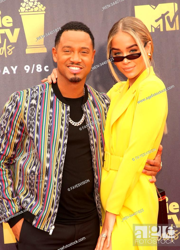 Stock Photo: 2018 MTV Movie And TV Awards Featuring: Jasmine Sanders, Terrence J Where: Santa Monica, California, United States When: 16 Jun 2018 Credit: FayesVision/WENN.