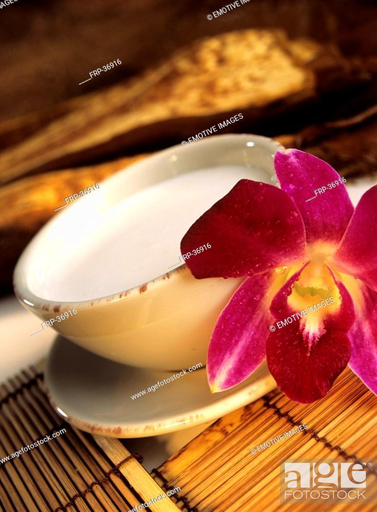 Stock Photo: Coconut milk.