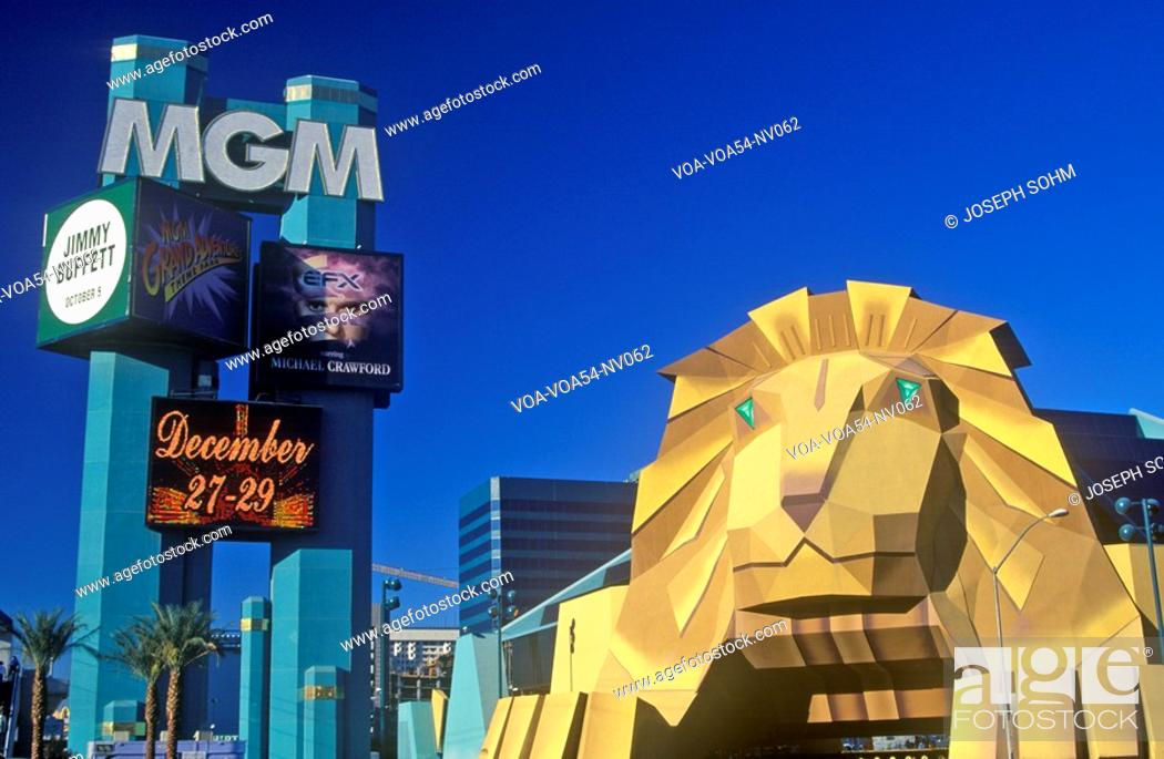 Replica Of Lion At The Entrance Of The Mgm Grand Hotel Las Vegas Nv Stock Photo Picture And Rights Managed Image Pic Voa Voa54 Nv062 Agefotostock