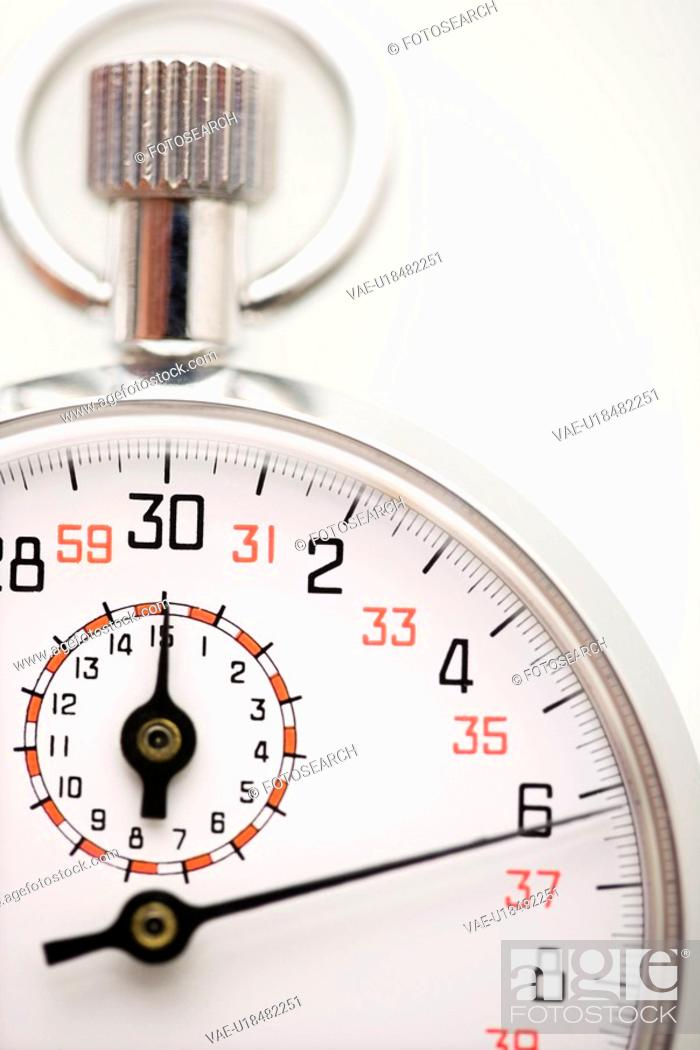 Stock Photo: Detail of stopwatch.