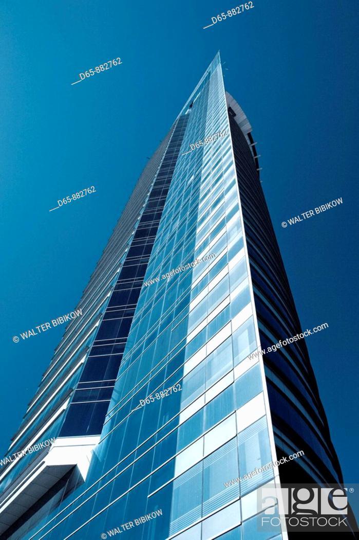 Stock Photo: ANTEL tower, Montevideo, Uruguay.