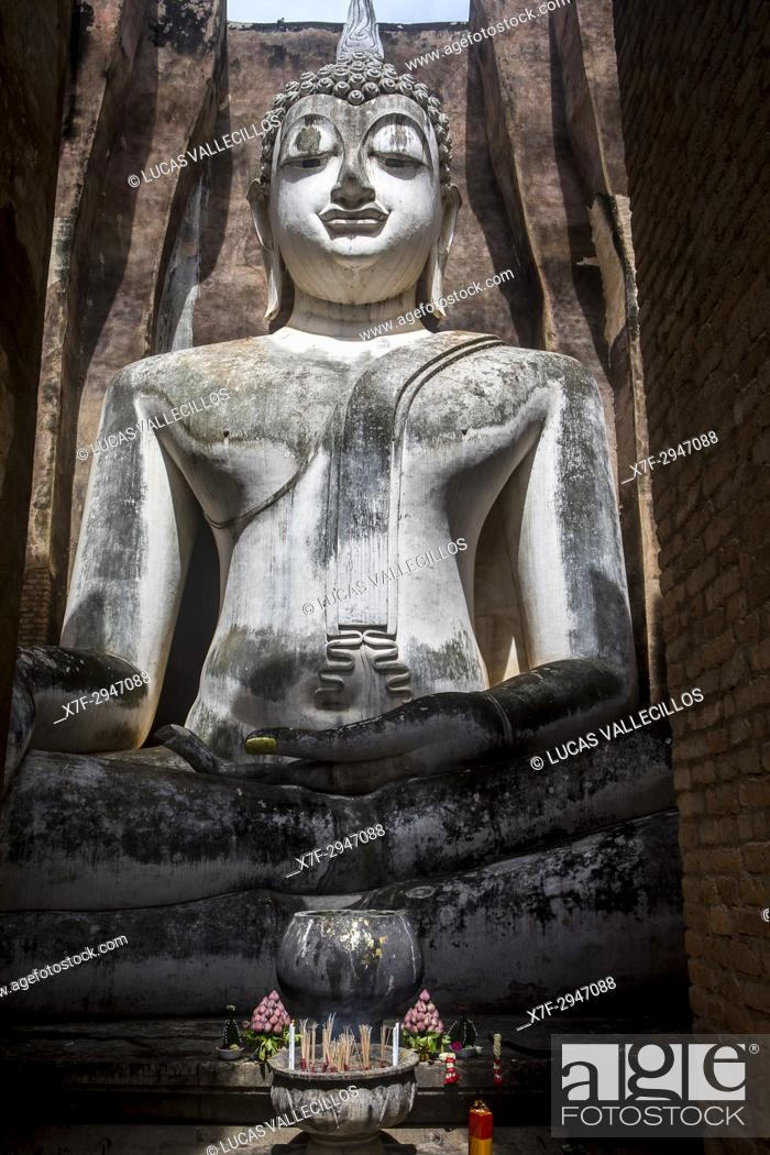Imagen: Wat Si Chum, in Sukhothai historical park, Sukhothai, Thailand.