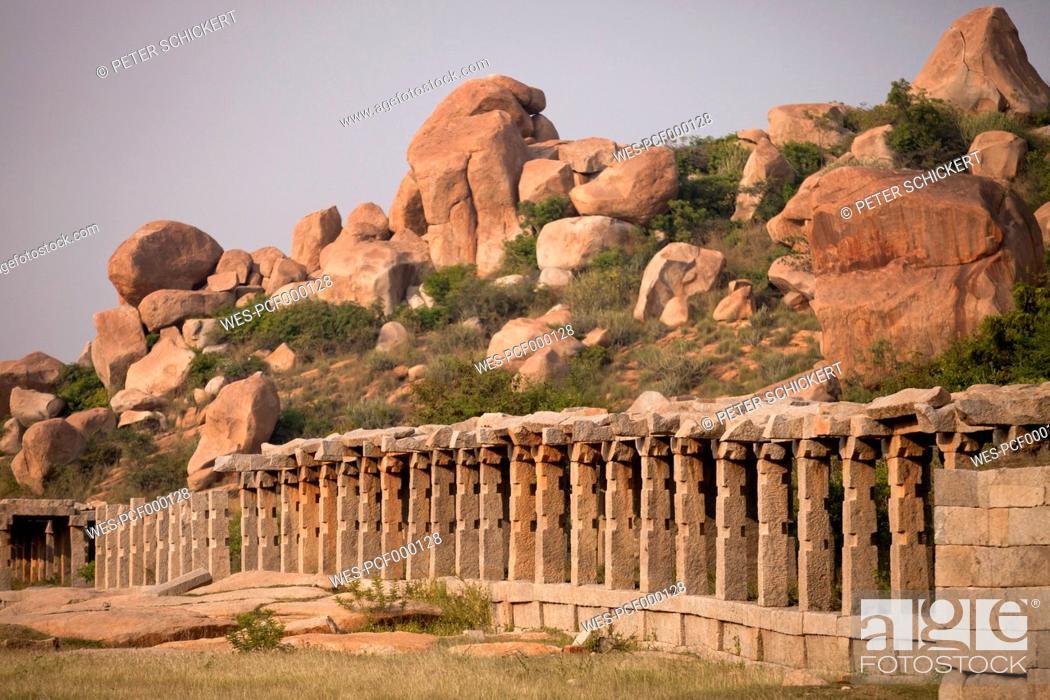 Photo de stock: India, Karnataka, Achyuta Rayas Temple in Hampi.