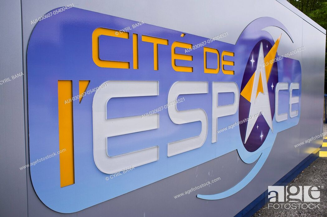 Stock Photo: France, Toulouse, Space City, [metal signboard].
