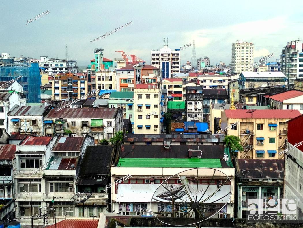 Stock Photo: Yangon. Myanmar.