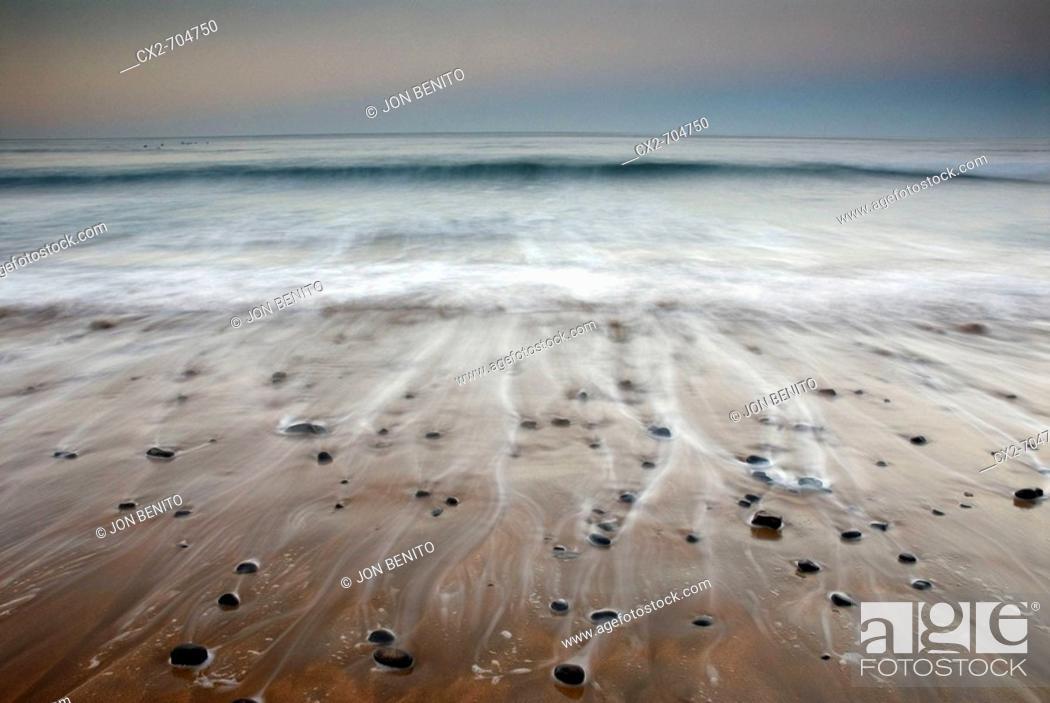 Stock Photo: Laga beach in the afternoon, Urdaibai Biosphere Reserve. Ibarrangelu, Biscay, Euskadi, Spain.