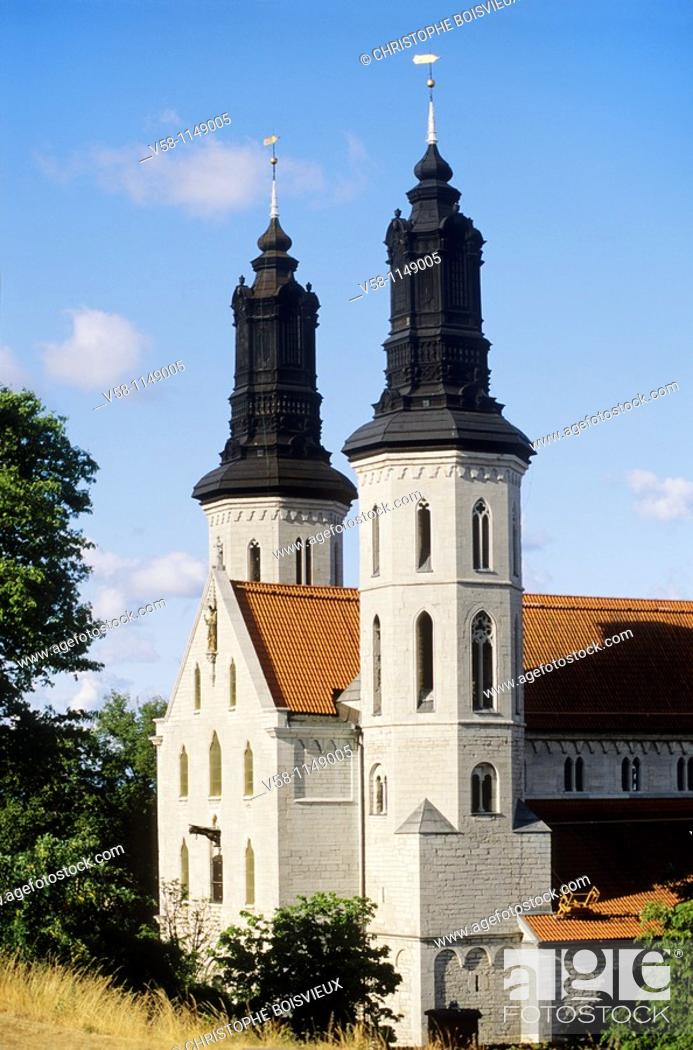 Stock Photo: Sweden, Gotland island, World Heritage Site, Visby, The Cathedral.