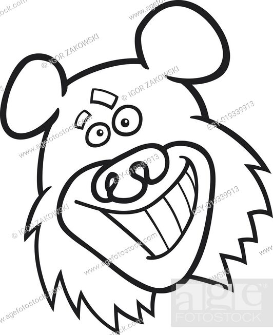 Stock Photo: funny bear for coloring book.