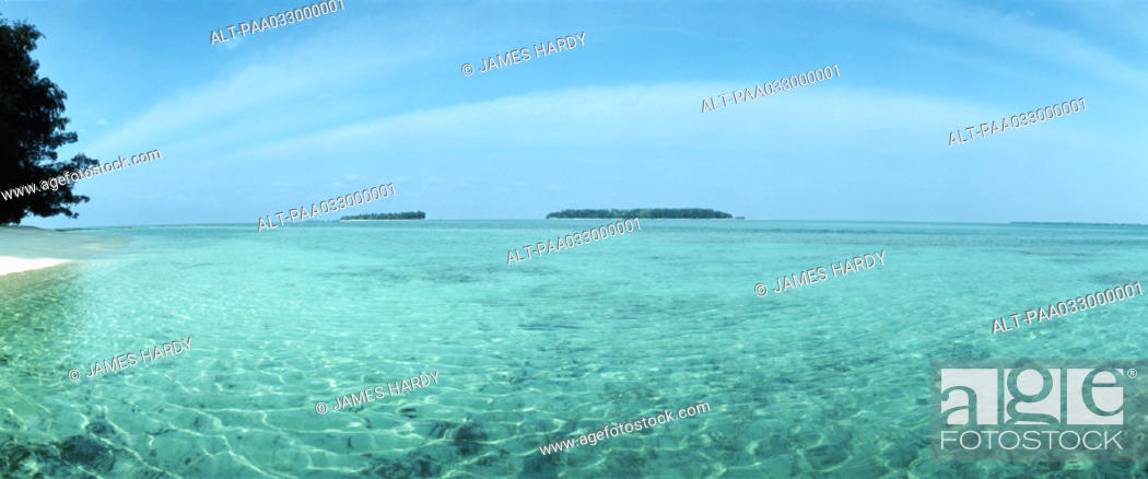 Stock Photo: Indonesia, turquoise sea, panoramic view.