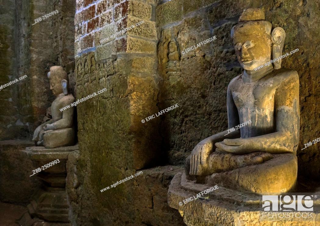 Stock Photo: Buddha Statues In Kothaung Temple, Mrauk U, Myanmar.