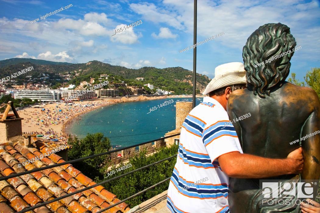 Stock Photo: Tossa de Mar, La Selva, Costa Brava, Girona province, Catalonia, Spain.
