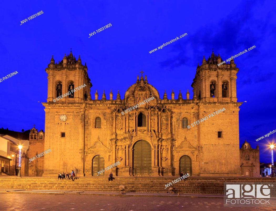 Stock Photo: Catedral del Cuzco, Cathedral at Plaza de Armas, Cusco, Peru, South America.