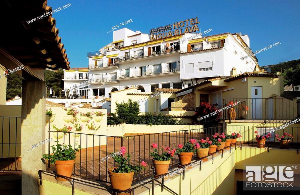 Photo de stock: Hotel Aiguablava. Costa Brava, Girona province, Catalonia, Spain.
