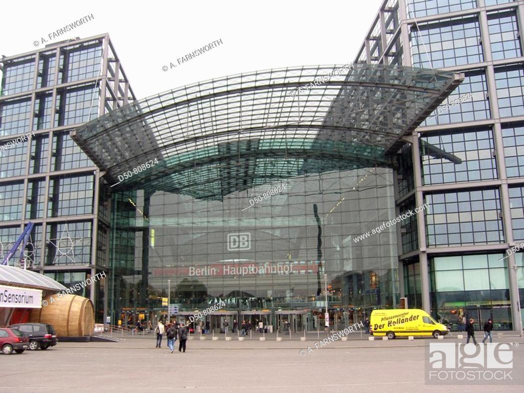 Stock Photo: Hauptbanhof train station -biggest in Europe-, Berlin, Germany.