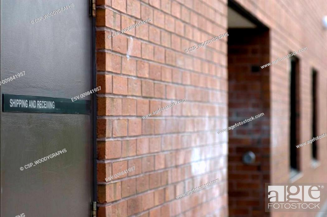 Stock Photo: Shipping door.