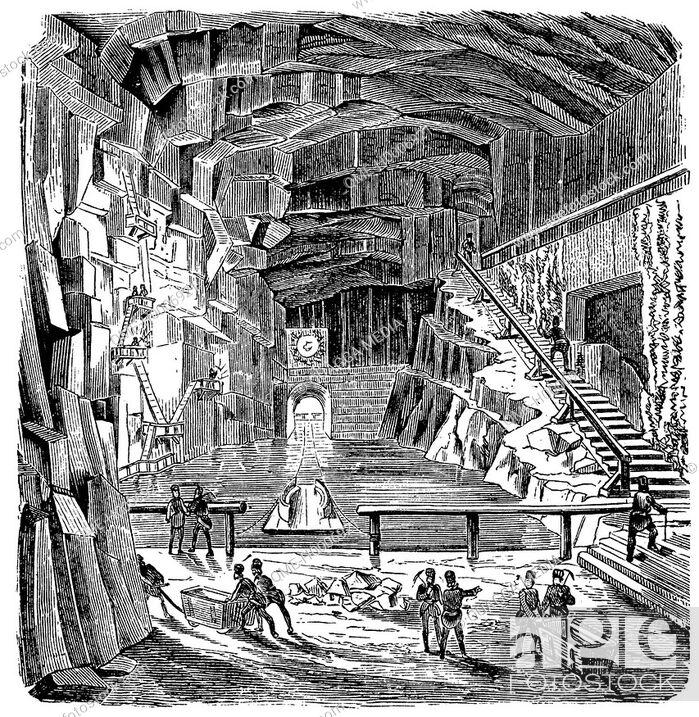 Stock Photo: Inside the salt mine of Wieliczka, Poland.