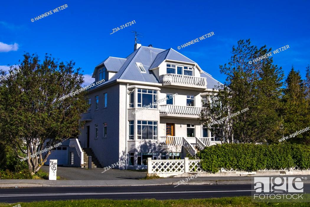 Stock Photo: Traditional house in Reykjavic, Iceland.