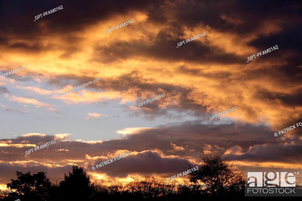 Imagen: STORMY SKY AT NIGHTFALL, EURE-ET-LOIR 28, FRANCE.