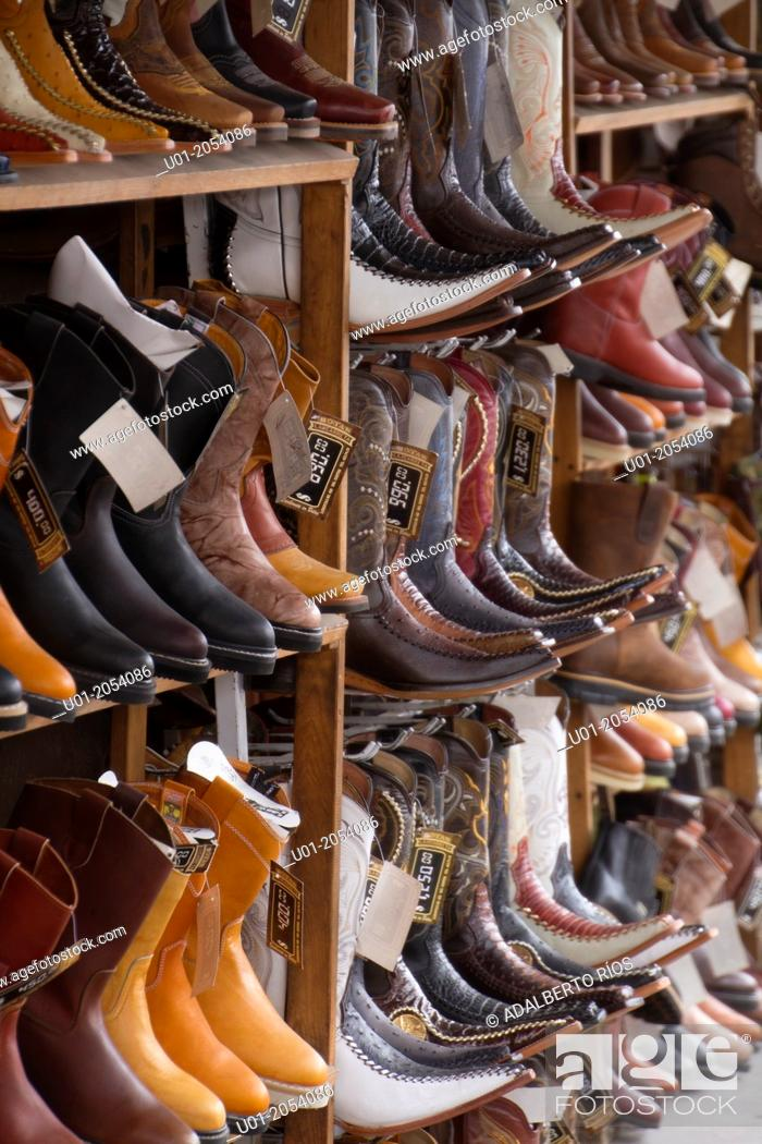 Stock Photo: Botas vaqueras cowboy boots. Northern Mexico.