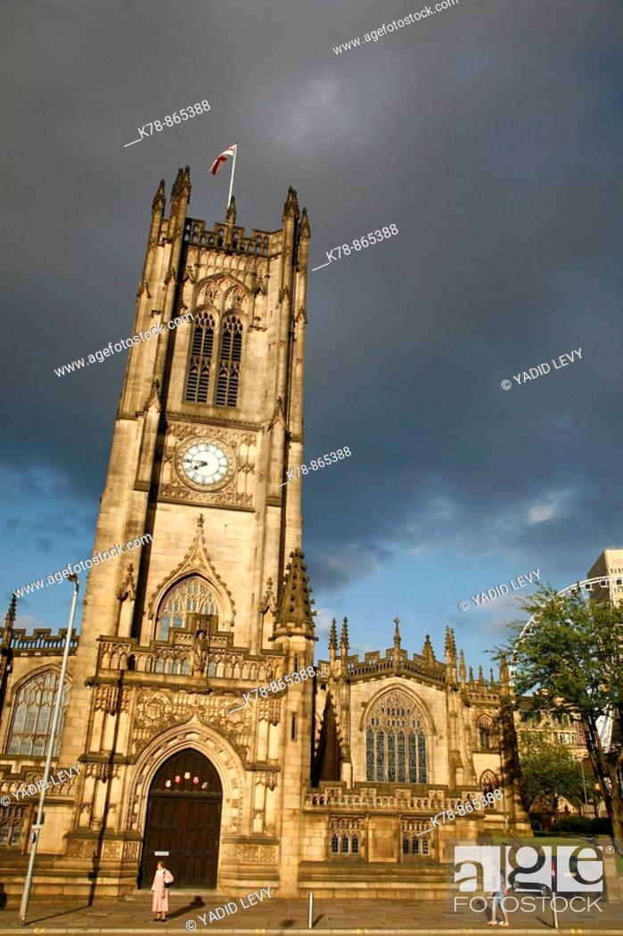 Stock Photo: Manchester Cathedral, Manchester, England, UK.