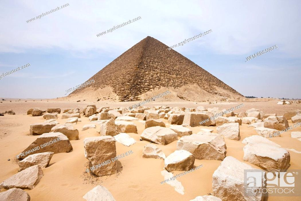 Stock Photo: Red Pyramid of Pharaoh Snofru, Dahshur, Egypt.