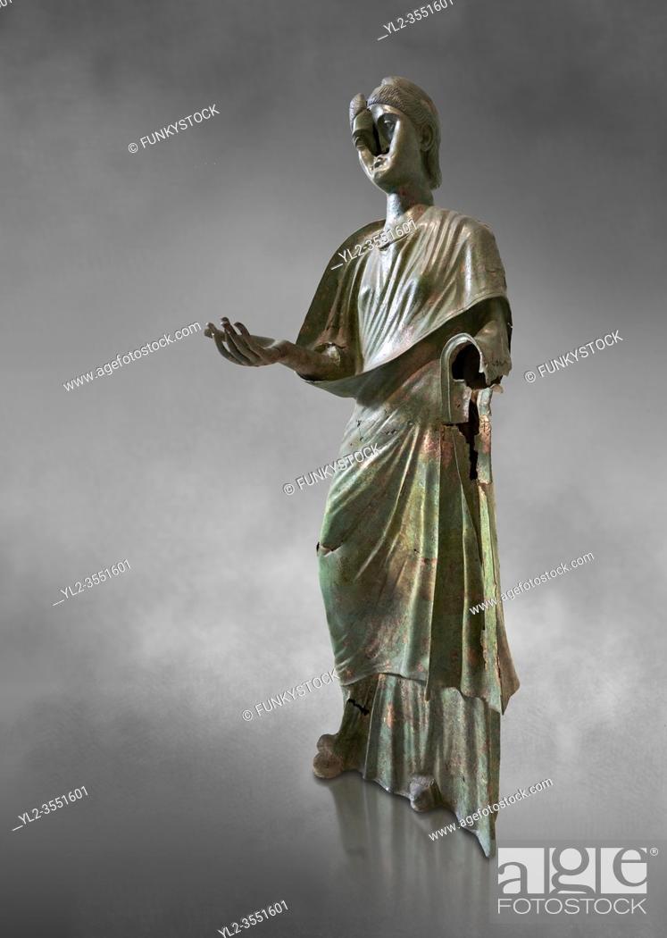 Stock Photo: Bronze statue of Roman empress Julia Aquilia Severa found at Sparta. circa 221-222 AD. Athens National Archaeological Museum, Cat No X23321.