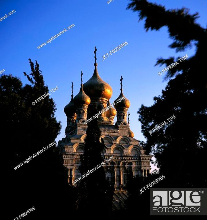 Stock Photo: Israel, Jerusalem, Russian Orthodox church.