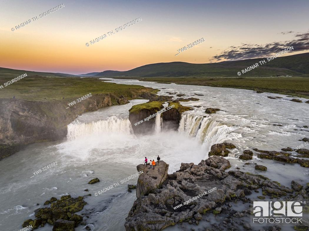 Stock Photo: Godafoss waterfalls, Iceland .