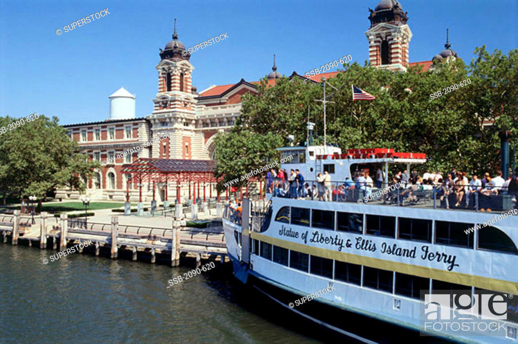 Stock Photo: Ellis Island Immigration Museum Ellis Island National Monument New York City USA.