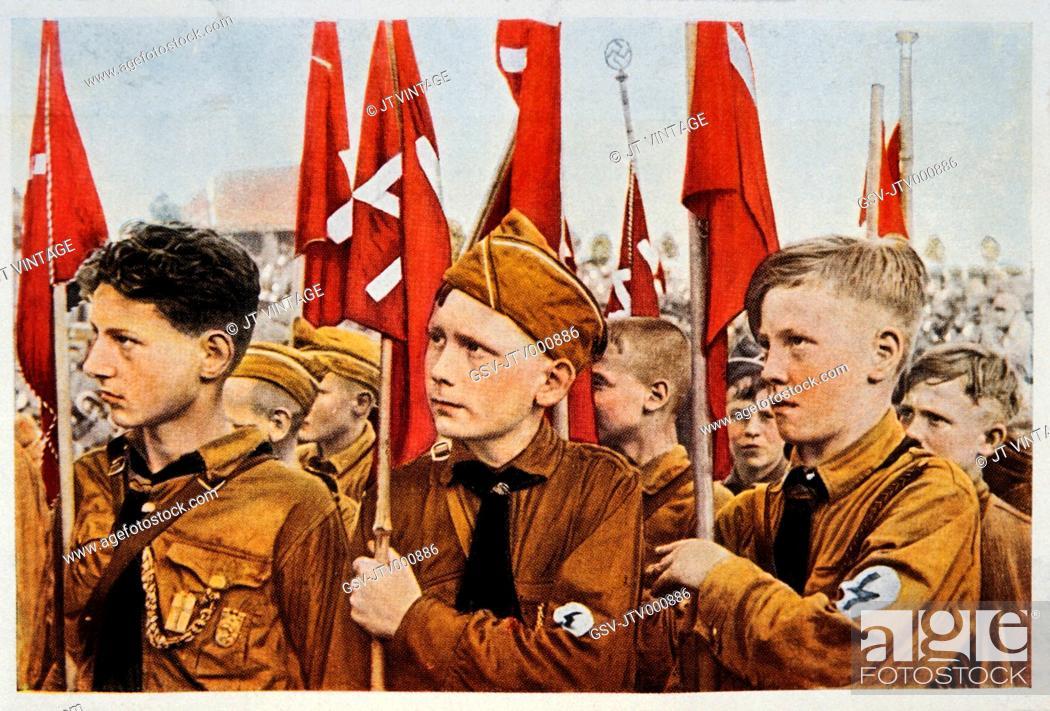 Stock Photo: Hitler Youth, Germany, Illustration, Circa 1933.