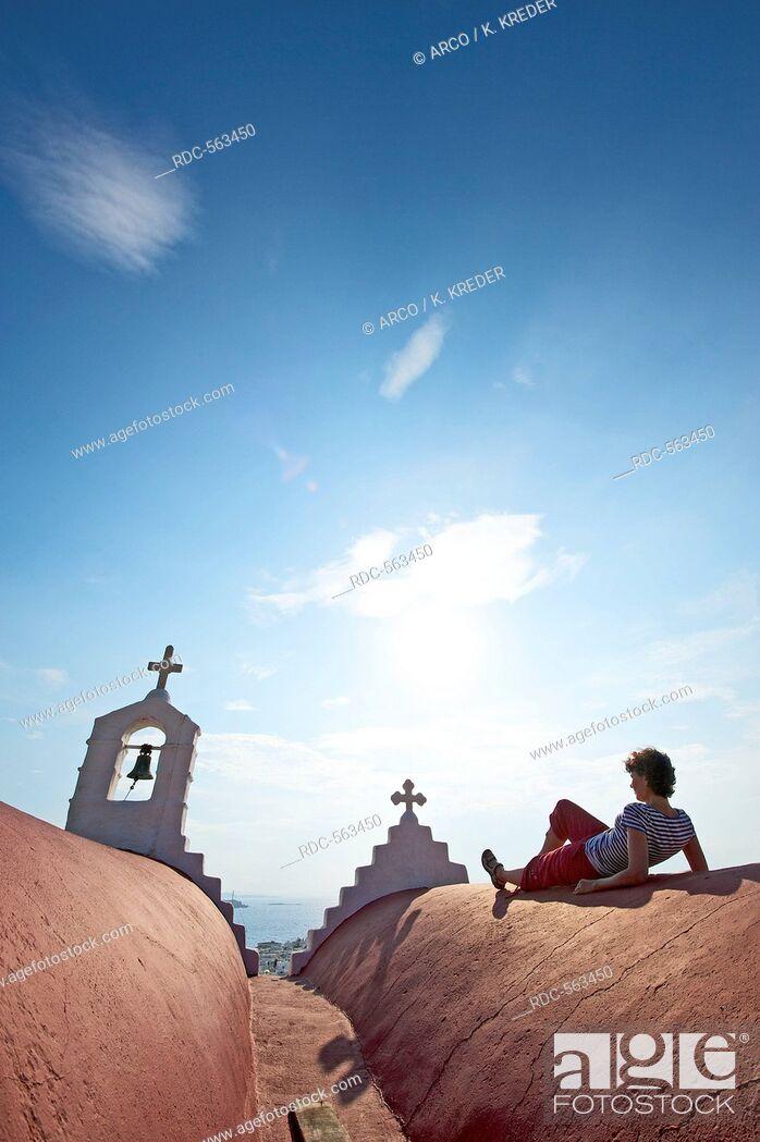 Stock Photo: Chapel in Mykonos Town, Mykonos, Cyclades, Greece MR.