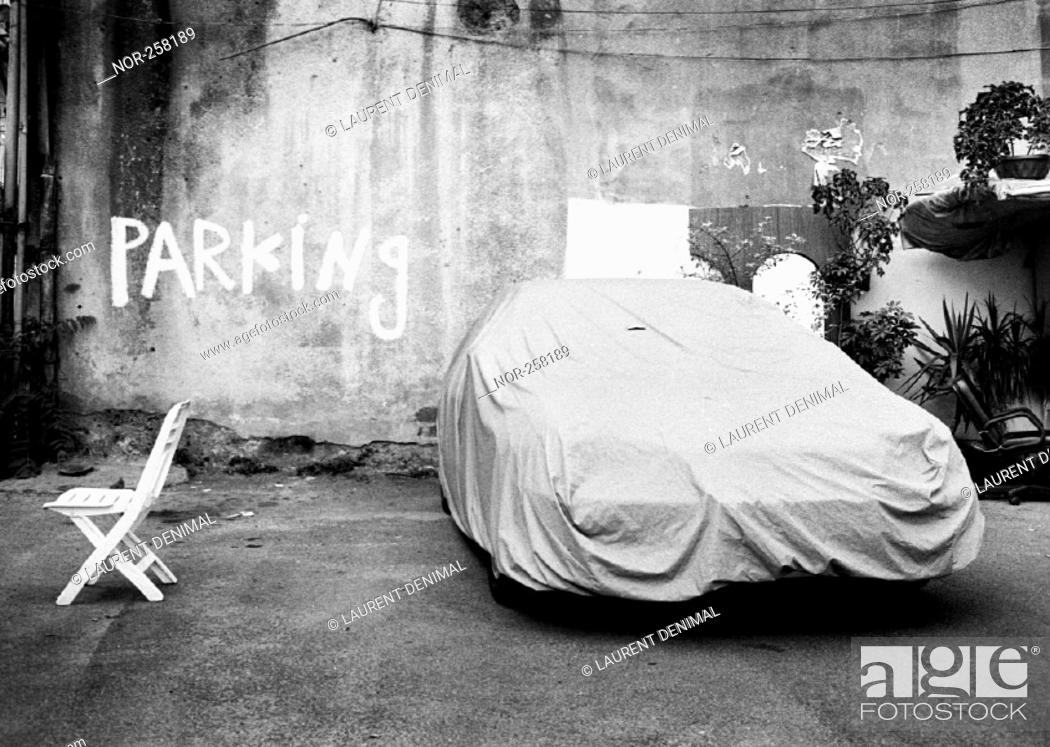 Stock Photo: A parking in Beyrouth.