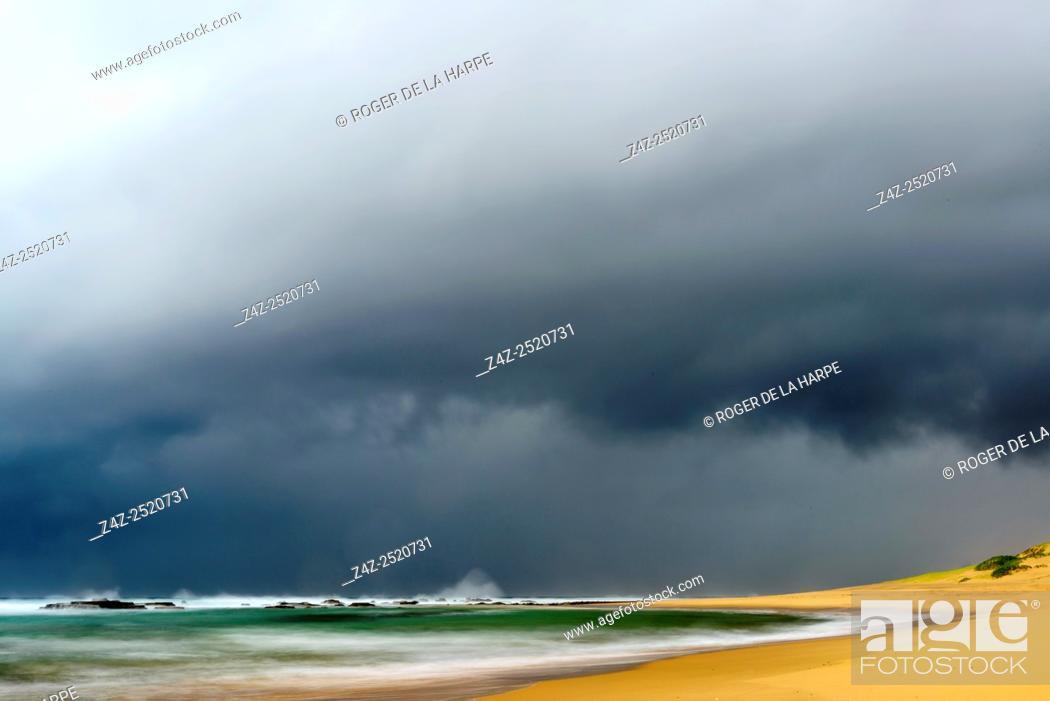 Stock Photo: Storm at sea. Mabibi. Maputaland. KwaZulu Natal. South Africa.