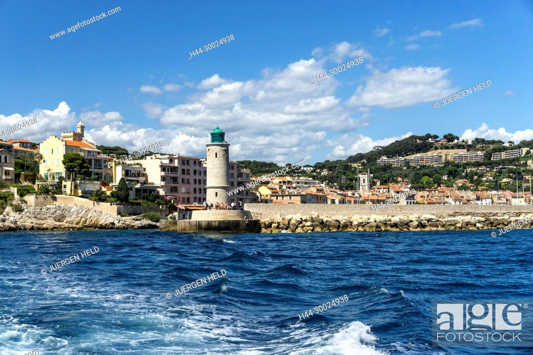 Stock Photo: Lighthouse, Cassis , Cote d Azur, France,.